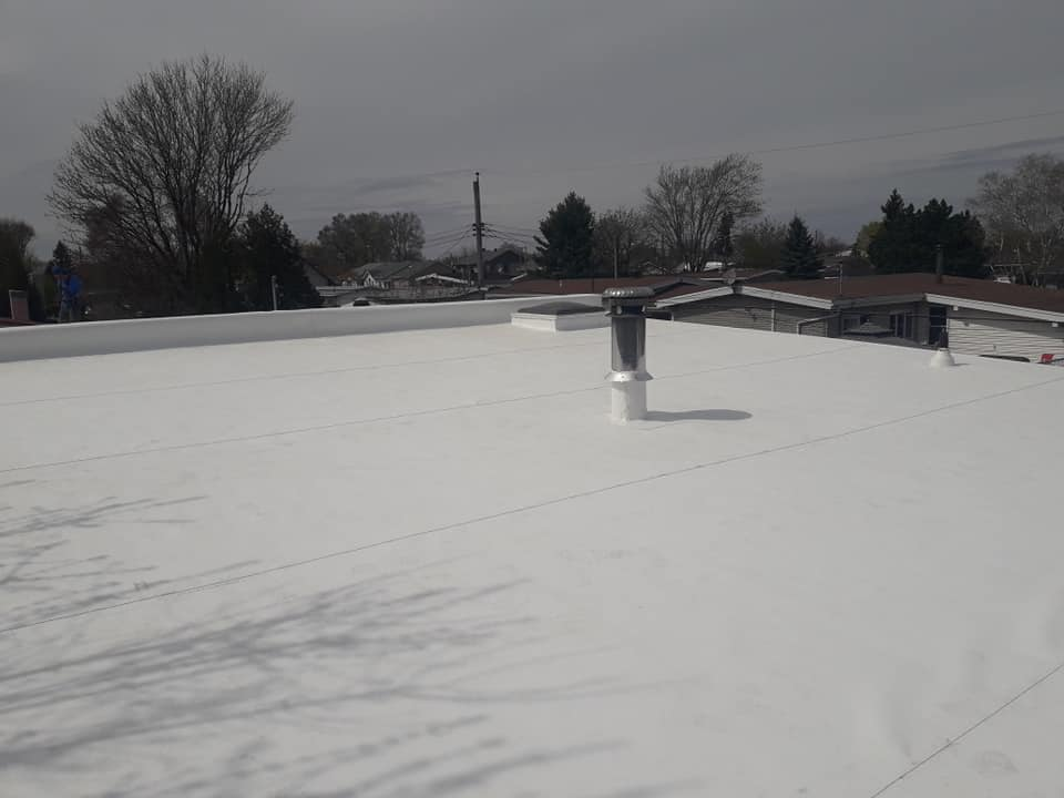 White paint roofing
