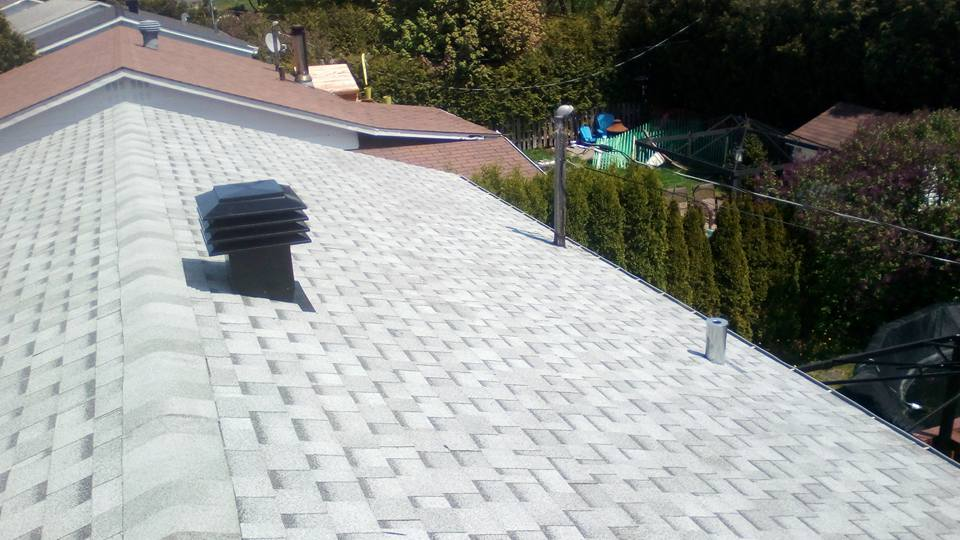 Top gray roof